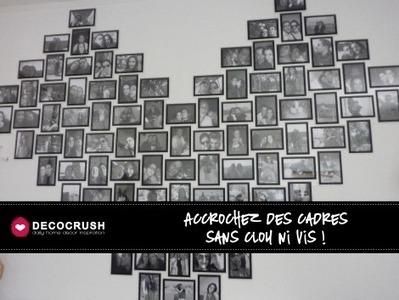 Accrochez vos cadres sans clou ni vis ! | DecoCrush blog déco, idées déco | décoration & déco | Scoop.it