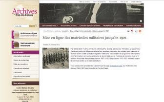 Archives 62, Les registres matricules militaires du Pas-de-Calais jusqu'en 1921 sont désormais en ligne. | Archive en ligne | Archives de la Rochelle, les recensements de populations 1801 1911 sont en ligne. | Scoop.it