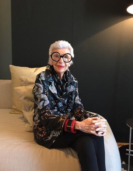 Rencontre avec Iris Apfel, cette icône de la mode de 94 ans - Elle - Elle | Couture | Scoop.it