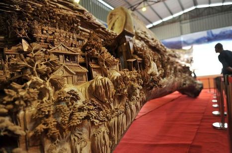 The World's Longest Wooden Carving by Zheng Chunhui | Art @ its best!!! | Scoop.it