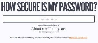 Free Technology for Teachers: How Secure Is Your Password? Let's Find Out | TEFL & Ed Tech | Scoop.it
