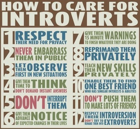 Getting the most of your talent who are introverts | Leadership Advice & Tips | Scoop.it