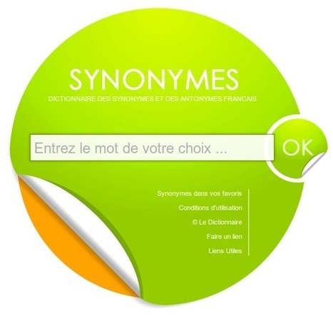 SYNONYMES - Dictionnaire des synonymes & antonymes | TICE, Web 2.0, logiciels libres | Scoop.it