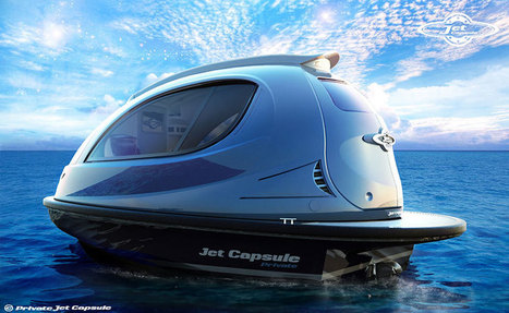 jet capsule water boats proposes private + taxi versions - designboom | architecture & design magazine | The Blog's Revue by OlivierSC | Scoop.it