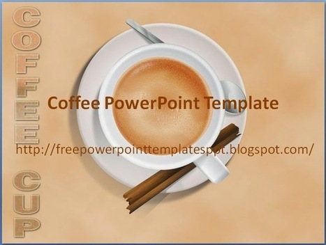 Coffee PowerPoint Templates Background in .potx for Slide in Presentation | Free PowerPoint Presentations Templates Background to Download | Scoop.it