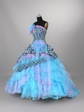Blue Plaid Organza Quinceanera Dress | Modern Quinceanera Dress | Scoop.it