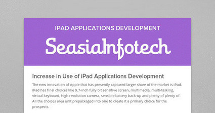 Increase in Use of iPad Applications Development | iPad Applications Development | Scoop.it