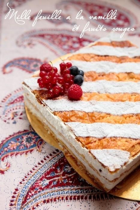 Millefeuille vanillé au mascarpone et fruits rouges | Rdv aux mignardises | Recipes | Scoop.it