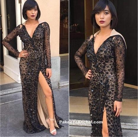 Sayani Gupta as an Urban Chic in a deep Neck La Bourjoisie Gown | Indian Fashion Updates | Scoop.it
