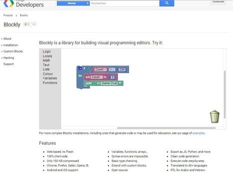 Blockly — Google Developers   Coding   Programming   Scoop.it