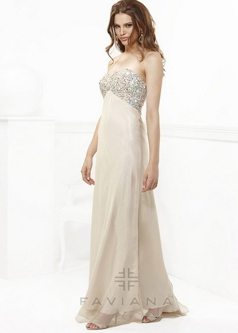 Champagne Sequin Top Long Strapless Faviana 7103 Evening Gown [Faviana 7103 Nude] - $193.00 : Cheap Prom Dresses 2015 For Sale,Save Up to 60% | prom dresses | Scoop.it