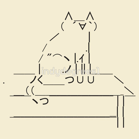 Tablecat Black by indydegrees1 | ASCII Art | Scoop.it