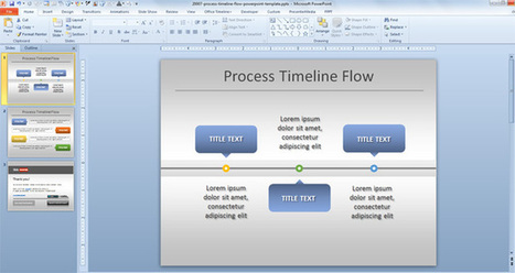 Free Simple Process Timeline Chart Template for PowerPoint | presentation | Scoop.it