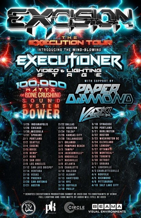 "EXCISION Launching North American ""Execution Tour"" Featuring New Live Show ""The Executioner""/New Tour Dates Added 