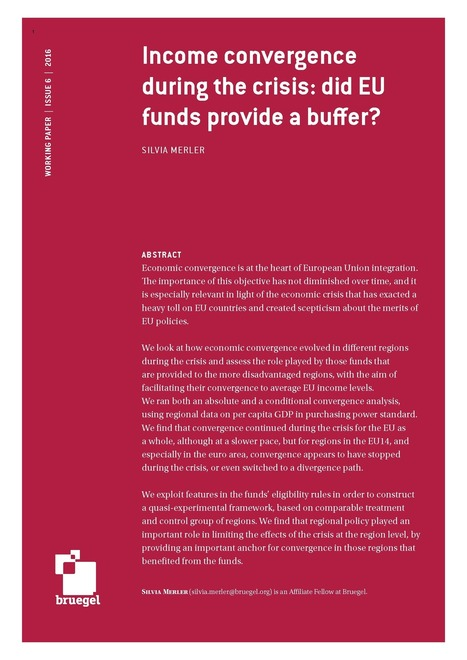 Income convergence during the crisis: did EU funds provide a buffer? | Géopolitique de l'Europe | Scoop.it