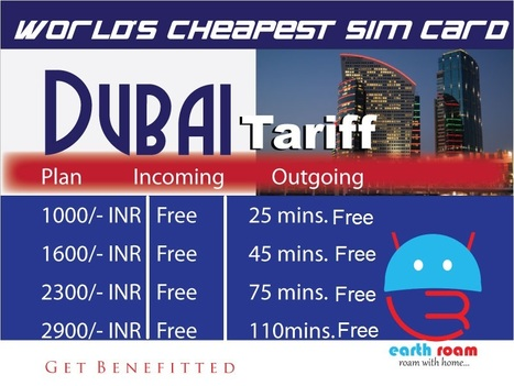 Dubai SIM card | Buy Earth Roam International SIM Cards at Cheapest Rate. | Scoop.it