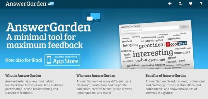 Answer Garden. Créer un nuage de mots collaboratif   TIC et TICE mais... en français   Scoop.it