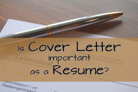 is cover letter important as a resume interview resume tips