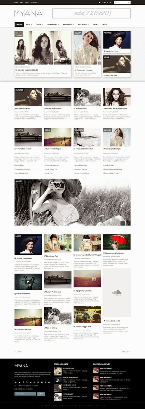 Myana Multipurpose Responsive Blogger Templates 2015 - Download New Themes | Blogger themes | Scoop.it
