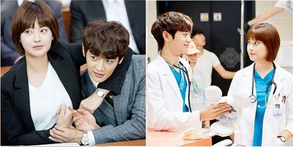 "Minho and Oh Yeon Seo Show Off Their Chemistry on Set of ""Medical Top Team"" - Soompi 