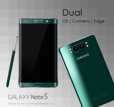 Samsung Galaxy Note 5 concept adopts dual camera | Samsung mobile | Scoop.it