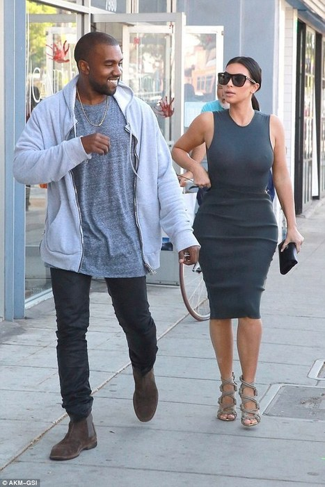"Kanye West can't stop smiling as Kim goes braless in sheer top | ""FOLLIEWOOD"" 