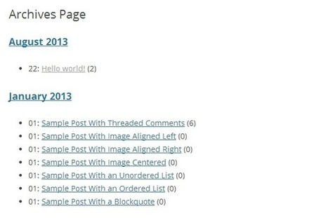 3 Free Plugins to Add Archives Page to WordPress Site - WPSpeak.com | Interesting and Useful WordPress Plugins | Scoop.it