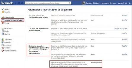 Désactiver sur Facebook l'identification sur les photos | Actu Web, Réseaux sociaux et e-marketing