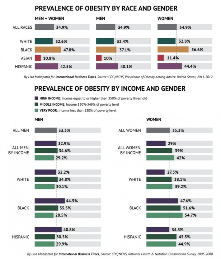 Here's How Obesity Relates To Gender, Race And Income In The US | Colorful Prism Of Racism | Scoop.it
