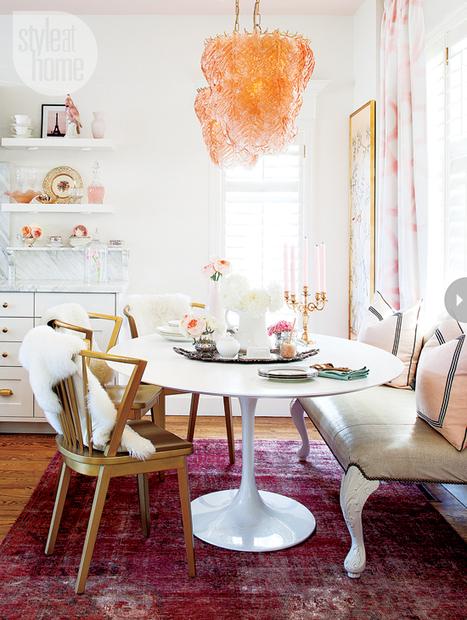 Un appartement glamour, chic et ultra féminin | décoration & déco | Scoop.it