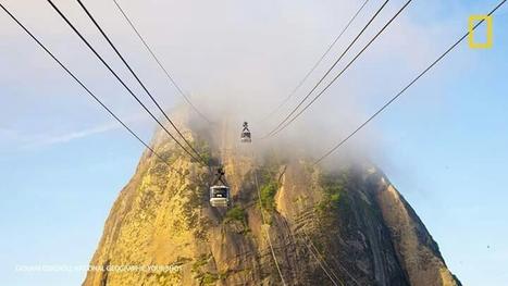 cable car outside mountain | transports par cable - tram aérien | Scoop.it