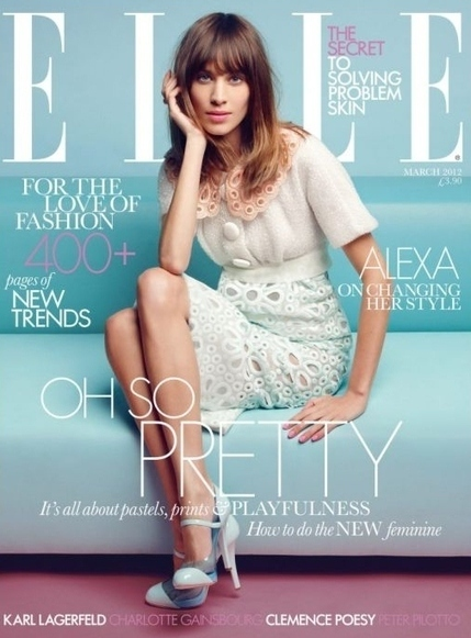 L'opinion de MyMy: Alexa Chung en couverture du ELLE Magazine ... | Beauty, Fashion & Design | Scoop.it