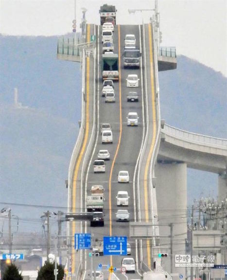 This crazy bridge in Japan looks more like a terrifying roller coaster | Strange days indeed... | Scoop.it