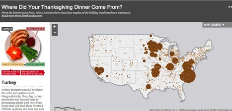 Where Did Your Thanksgiving Dinner Come From? | informational landscapes | Scoop.it