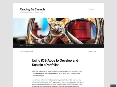 Using iOS Apps to Develop and Sustain ePortfolios | Reading By ... | AAEEBL -- ePortfolio Meets Mobile | Scoop.it