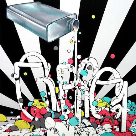 Gris1 @ Galerie At Down | Le Street Art - Art de la rue - Graffiti - TAG | Scoop.it