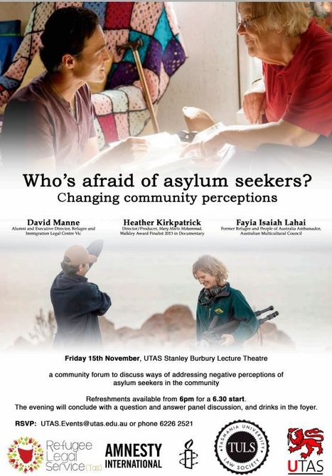 You are invited to participate in a community forum to discuss ways of addressing negative perceptions of asylum seeker in the community | CFNP South | Scoop.it
