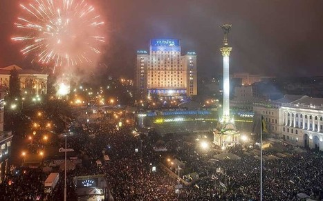 Thousands ring in New Year on Ukraine's protest square  - Telegraph   Activism, Protest, Citizen Movements, Social Justice   Scoop.it