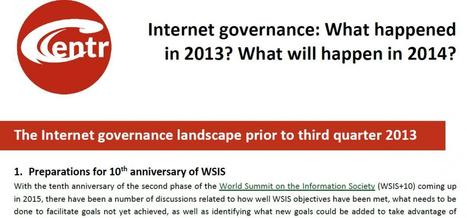 CENTR: Internet Governance in 2013 and What's Coming Up in 2014 | Anything Internet | Scoop.it
