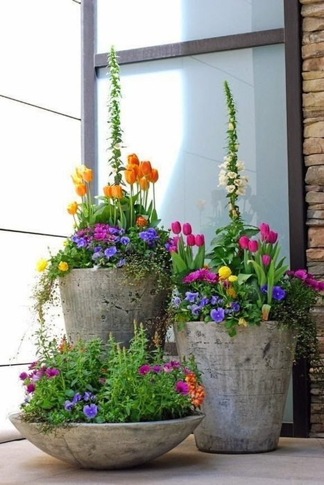 Front yard decor, container planters | Home Decor Designs | Scoop.it
