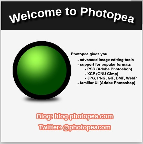 Photopea editor | Edit files from Photoshop online | Time to Learn | Scoop.it