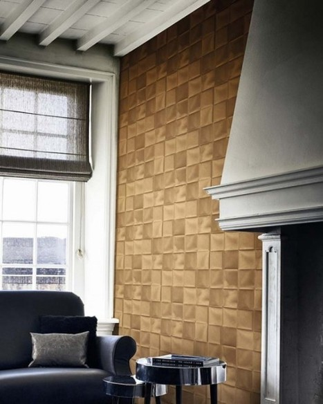 Create living room wallpaper ideas with cool and modern pattern | Designinggal | interior design inspirations | Scoop.it