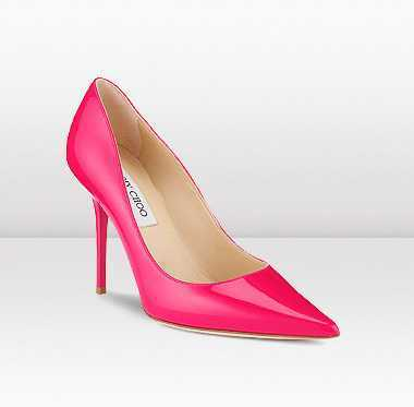 Jimmy Choo Abel Patent Leather Heels Fuchsia on sale | oil painting | Scoop.it