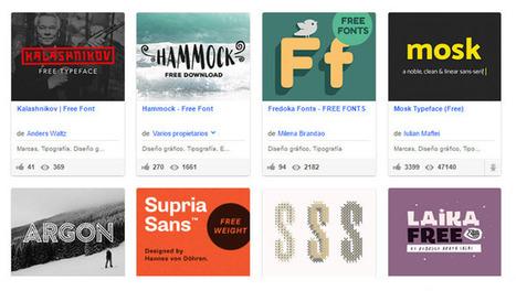 Más de 200 fuentes gratuitas para proyectos creativos | Aprendiendoaenseñar | Scoop.it