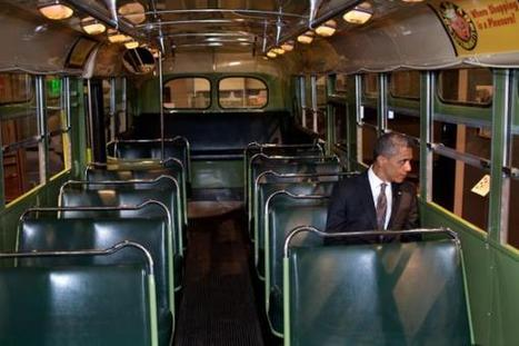 PHOTO: Obama Seated In Rosa Parks Bus | Coffee Party TV | Scoop.it