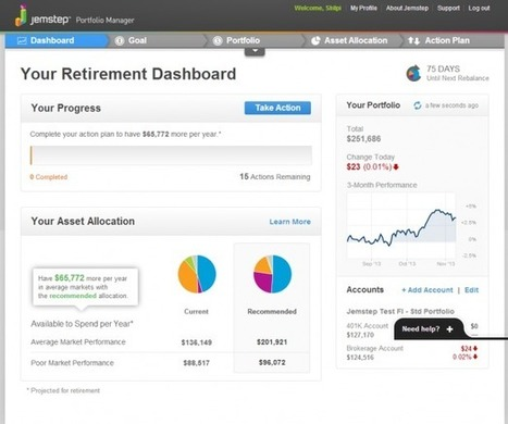 Personal Finance Apps with Amazing Dashboards—Part 3: Jemstep   From Our Blog   Scoop.it