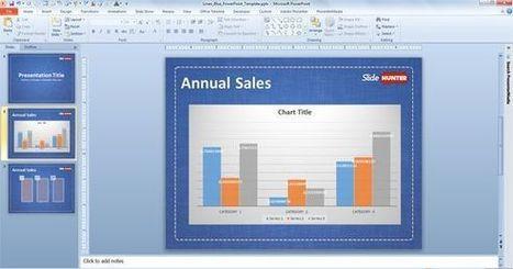 Linen Blue PowerPoint Template | Free Business PowerPoint Templates | Scoop.it