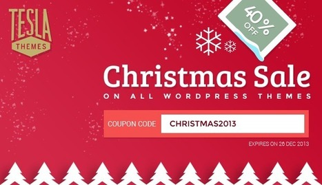 Christmas Special: 40% OFF on all WordPress Themes | TeslaThemes | Clean WordPress Themes | Scoop.it