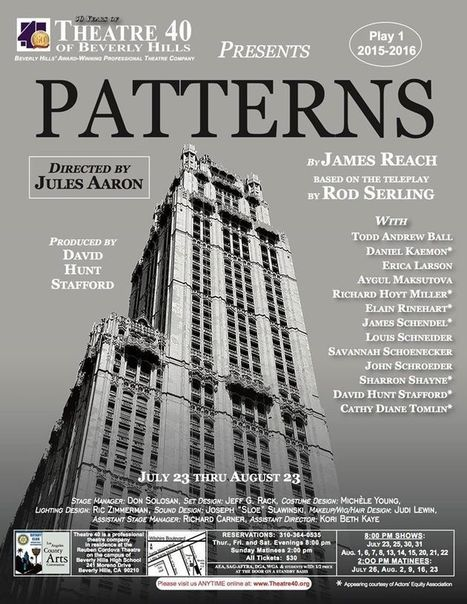 """Thespian Thoughts Theatre Review - PATTERNS  -  """"A Triumph 