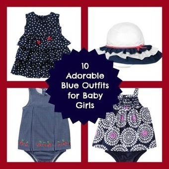 Baby Blue: 10 Adorable Blue Outfits for Baby Girls - Babble   Childrens Style   Scoop.it